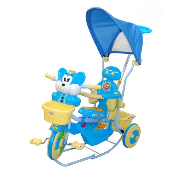 Tricicleta EURObaby 2830AC - Albstru