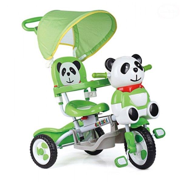 Tricicleta EURObaby Panda A23-3 - Verde