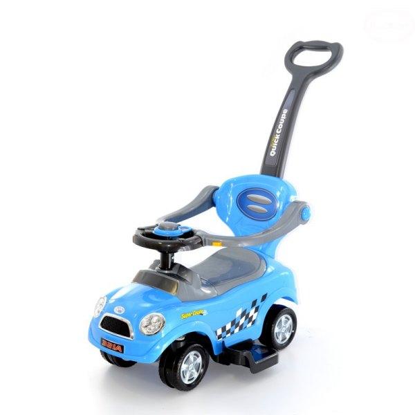 Masinuta de impins EURObaby 321A Mini Cooper - Albastra