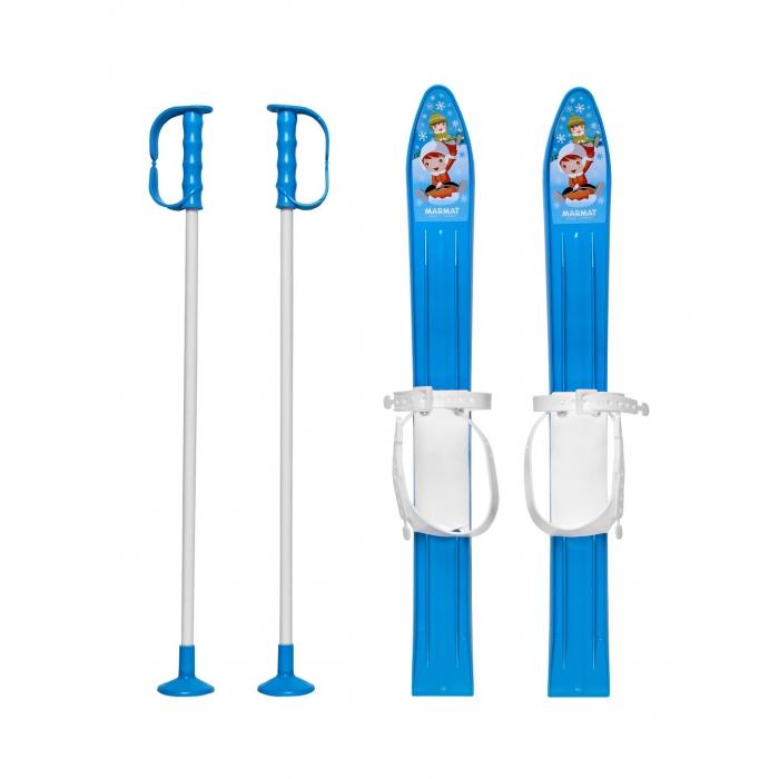 Schiuri copii Marmat 60 cm - Albastru